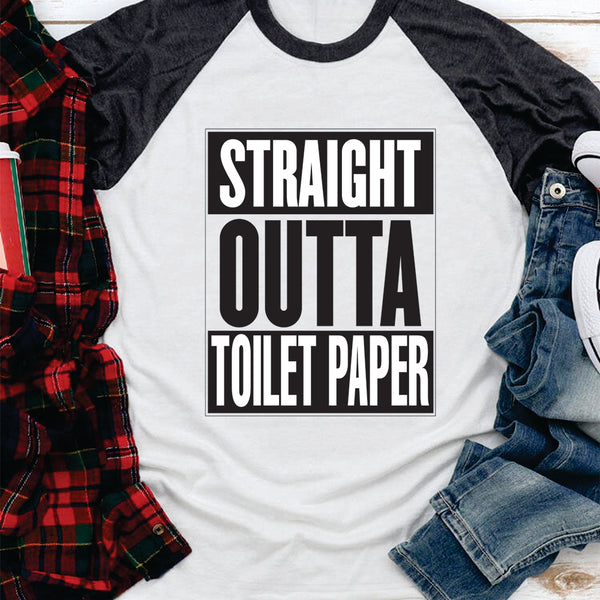 Men's Baseball T-Shirt - Straight Outta Toilet Paper