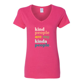 Women's V-Neck T-shirt - Kind People Are My Kind Of People