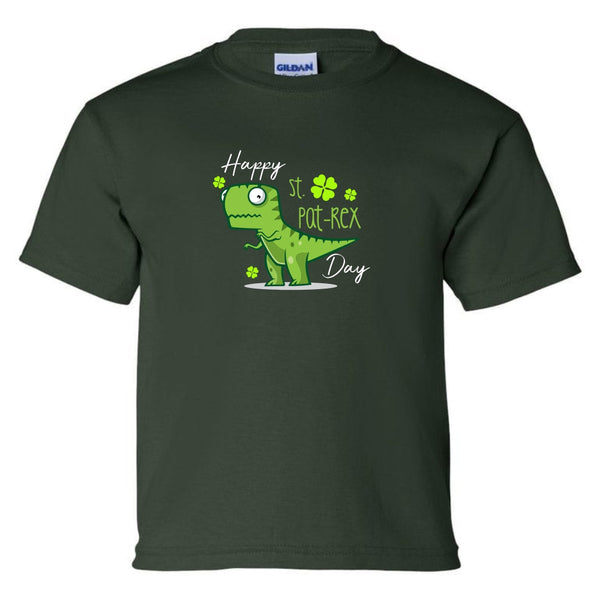 Youth Crew Neck T-shirt - Happy St. Pat Rex Day