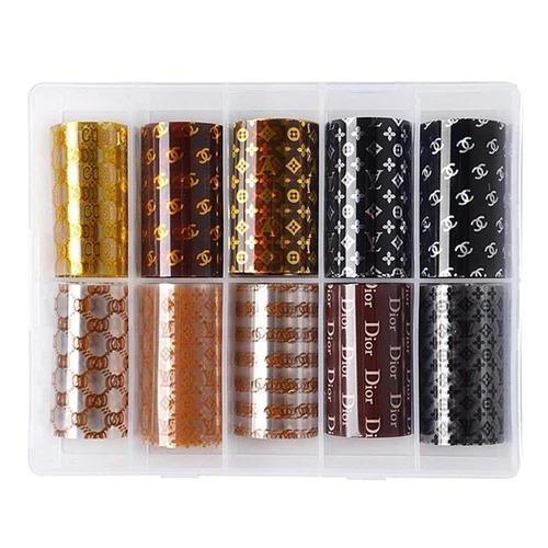 Nail Foil - Luxury Brand #01 ( Box of 10 Sheets)