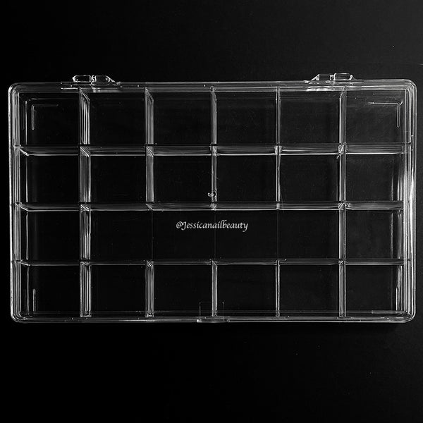 Empty Charm/Rhinestone Plastic Box (21 Slots Removable)