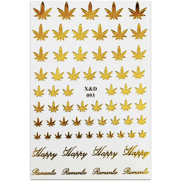 Nail Sticker - Hemp Leaf - X&D093