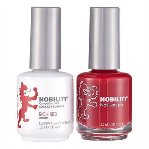 Nobility Duo Gel + Lacquer - NBCS031 Rich Red