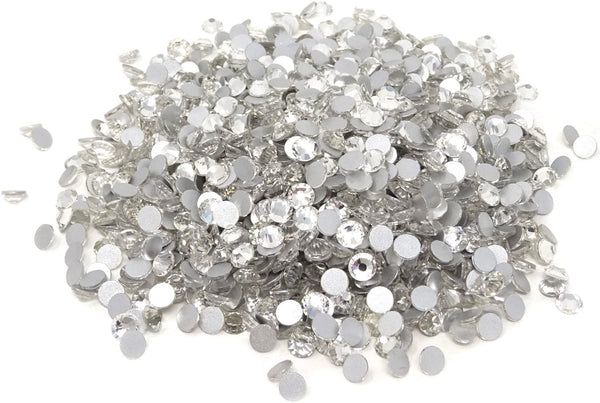 JNBS Rhinestone - Round Flatback - Clear (Bag of 1440pcs)