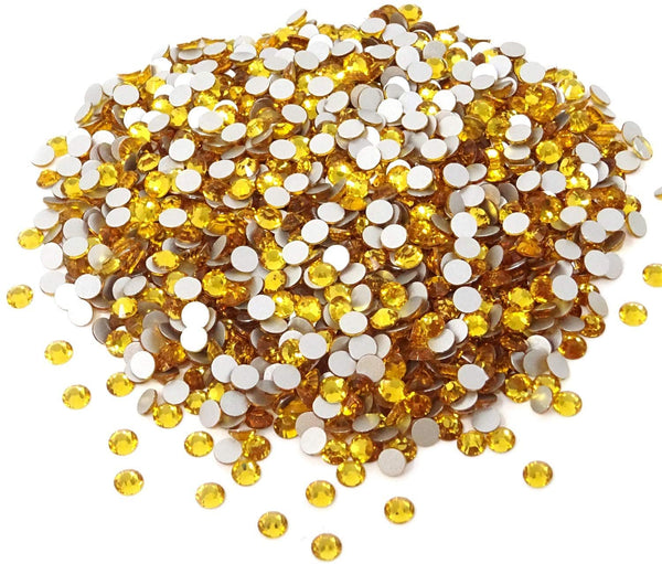 JNBS Rhinestone - Round Flatback - Golden (Bag of 1440pcs)