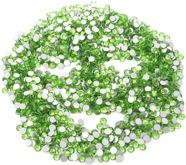 JNBS Rhinestone - Round Flatback - Light Green (Bag of 1440pcs)