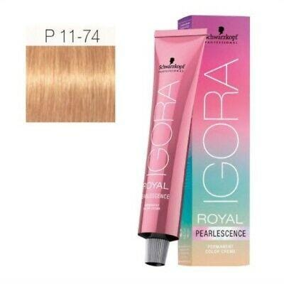 Schwarzkopf Permanent Color  - Igora Royal PearlEscence #P11-74 Ultra blonde plus tangerine