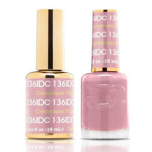 DND DC Duo Gel Matching Color - 136 LAVA RED