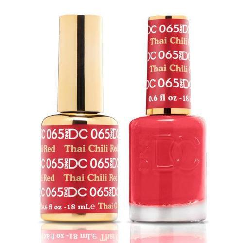 DND DC Duo Gel Matching Color - 065 THAI CHILI RED
