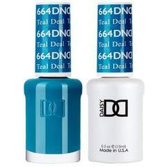 DND Duo Gel Matching Color - 664 Teal Deal