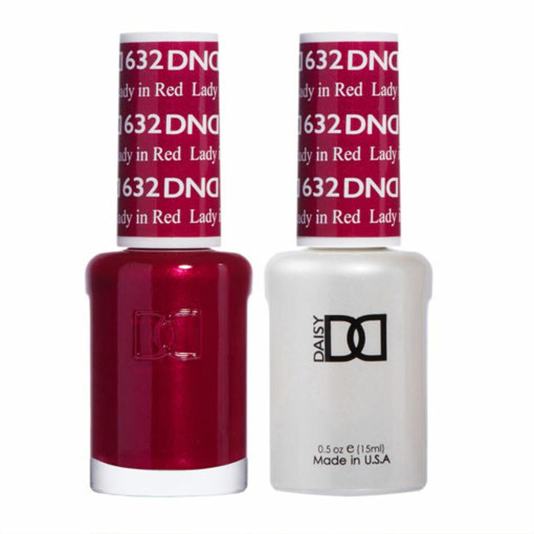 DND Duo Gel Matching Color - 632 Lady in Red