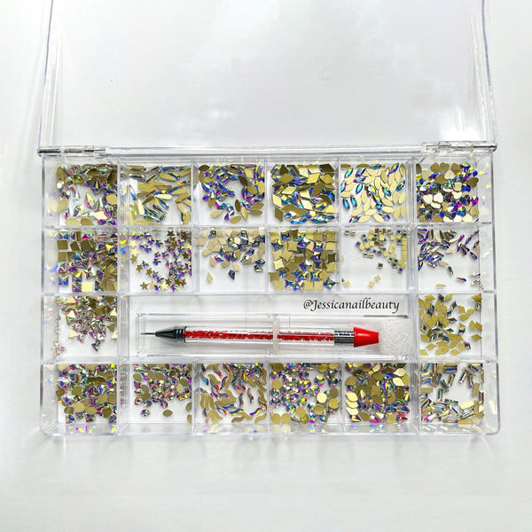 High Quality Rhinestone Box Set (around 1000pcs)