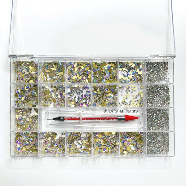 High Quality Rhinestone Box Set (around 2000pcs)