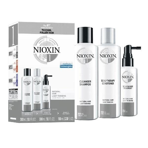 NIOXIN #1 Natural Hair Light Thinning (Set of 3 Steps)