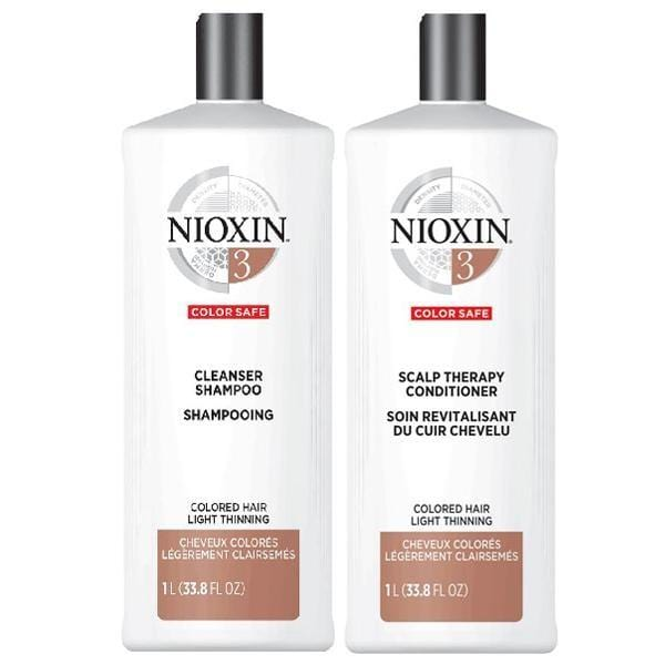 NIOXIN #3 Color Safe - Colored Hair Light Thinning (Set of 2 Steps)