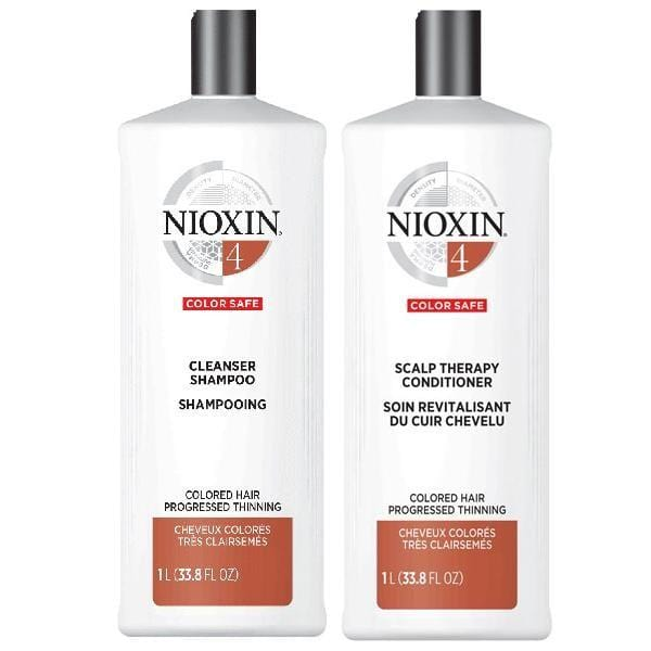 NIOXIN #4 Color Safe - Colored Hair Progressed Thinning (Set of 2 Steps)