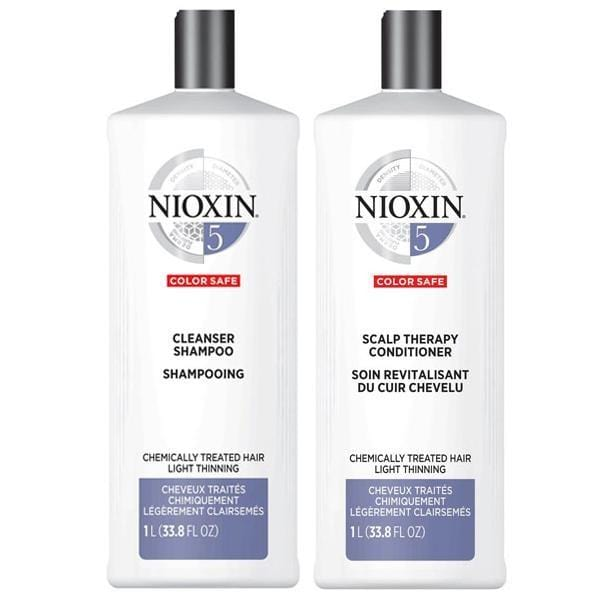 NIOXIN #5 Color Safe - Chemically Treated Hair Light Thinning (Set of 2 Steps)