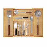 BAMEOS Upgraded Utensil Drawer Organizer for kitchen