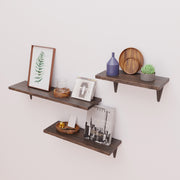 Natural Bamboo Wall Storage Shelf for living room