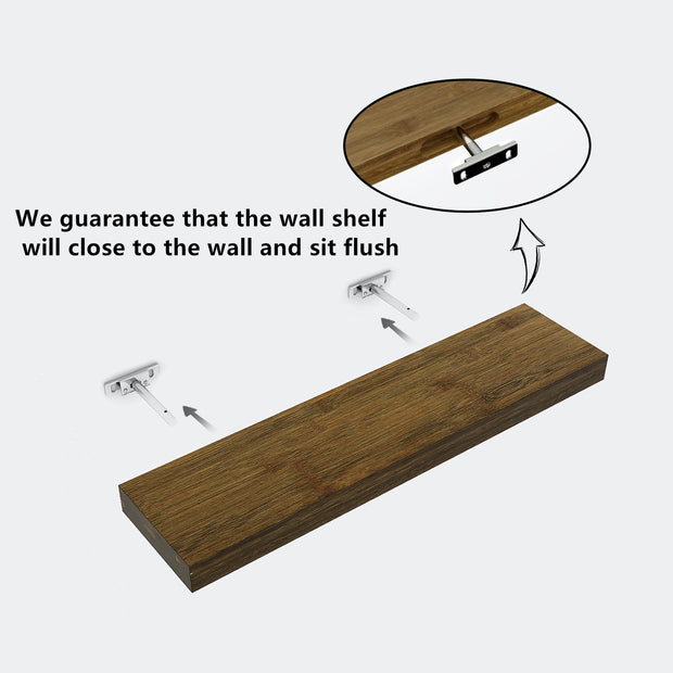 Bamboo Wall Shelf Wall Mount Display Rack for living room