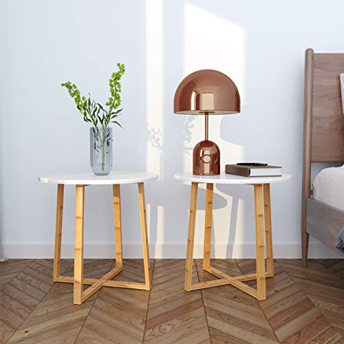 BAMEOS Modern Nightstand Side Table