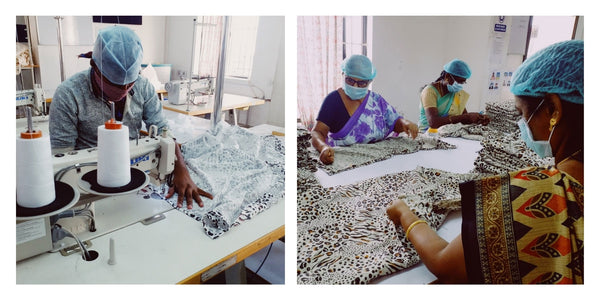 Ethical factories producing our Nuzlin swaddles.