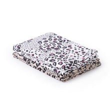 Load image into Gallery viewer, Baby swaddle 2 pack in animal print - angled view