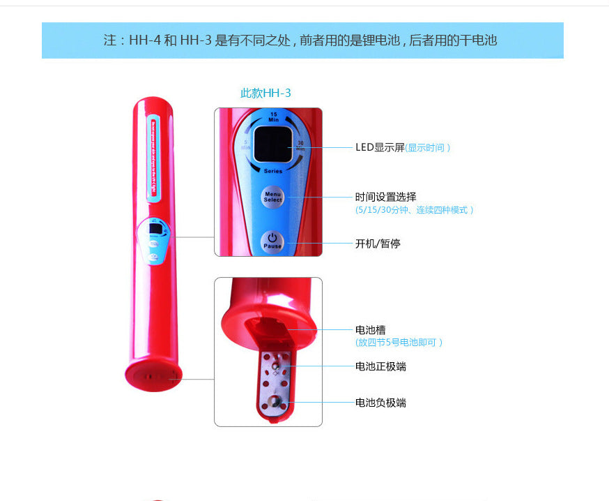 UV Disinfection Lamp Battery Charging Portable Sterilization