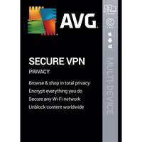 AVG Secure VPN 2020 | 1 year | 5 devices | ESD