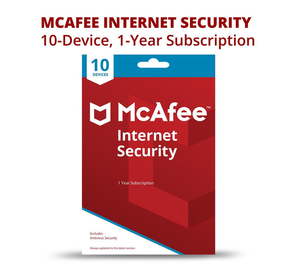 McAfee Internet Security 2020 | 1 year | 10 devices | ESD
