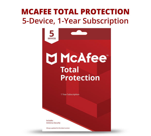 McAfee Total Protection 2021 | 1 year | 5 devices | ESD