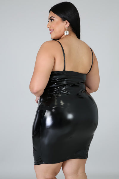 Leathered Up Body-Con Dress (Curve Collection)