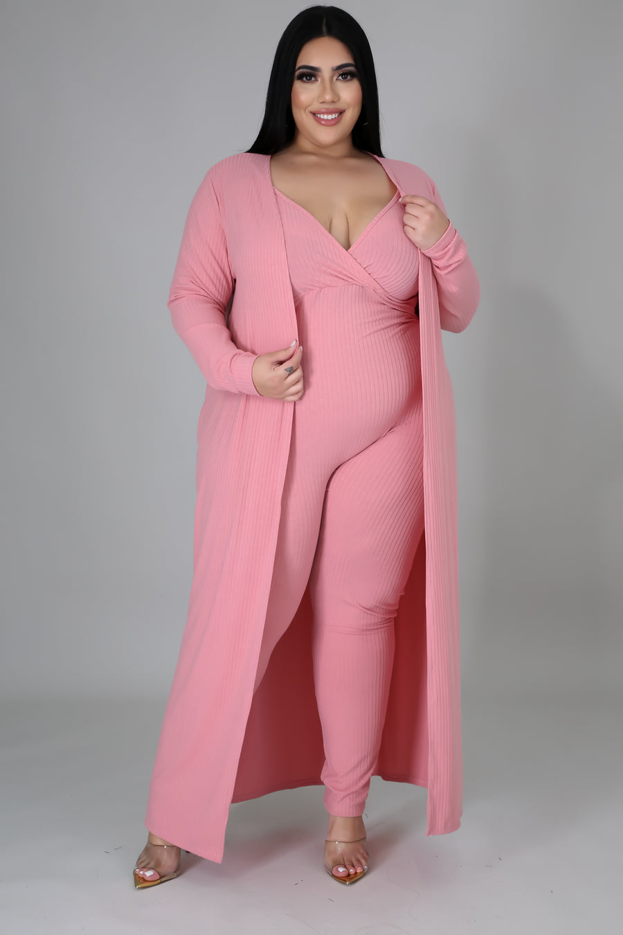 I Just Wanna Feel Jumpsuit Set (Curve Collection)