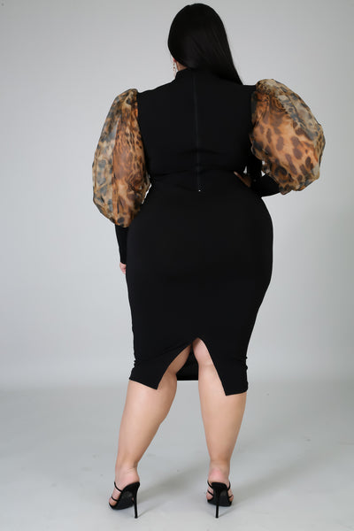 Can't Tame Me Dress (Curve Collection)