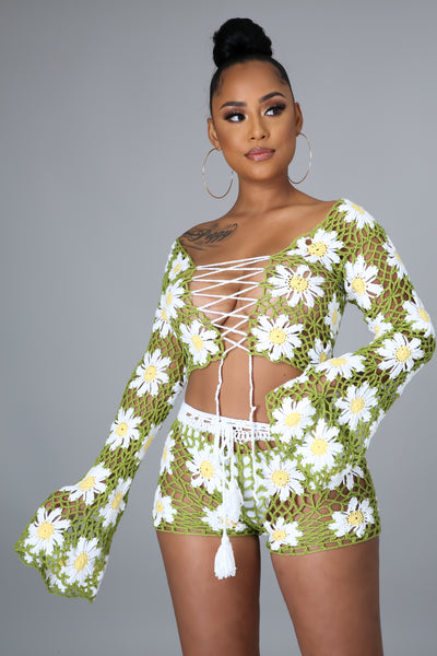 Fresh As A Daisy Short Set
