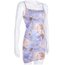 Load image into Gallery viewer, Aesthetic Renaissance Print Sleeveless Strap Mini Dress