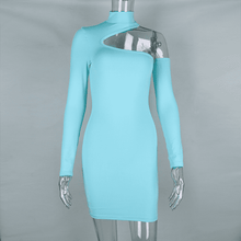 Load image into Gallery viewer, Ready - One Shoulder Long Sleeve Mini Dress