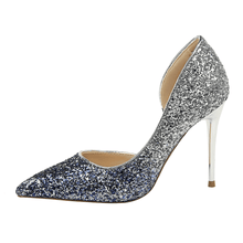 Load image into Gallery viewer, Glitter Party - Sequins high heel pumps