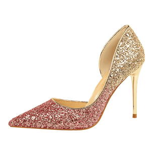 Glitter Party - Sequins high heel pumps
