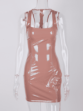 Load image into Gallery viewer, Doll Mood Neon Leather Bodycon Dresses