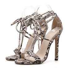 Load image into Gallery viewer, RBF - Lace up thin high heel sandals