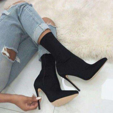 Julia - Sock knit ankle boots
