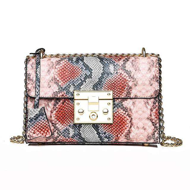 Crocodile Printed Square Bag