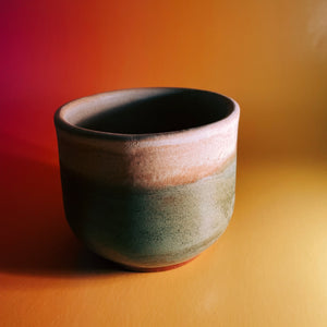 mug - green and tan