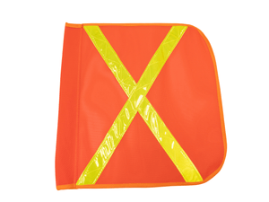 "16"" X 16"" Orange Nylon Mesh Flag"