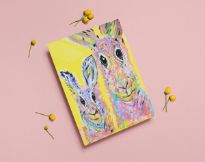 Greeting Card - Rabbit Mother and Baby Boy
