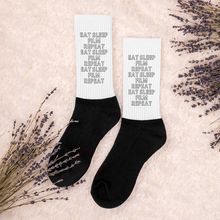 Load image into Gallery viewer, Film-maker Socks - Eat, Sleep, Film, Repeat