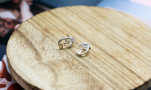 925 Sterling Silver Picasso Face Style Stud Earrings