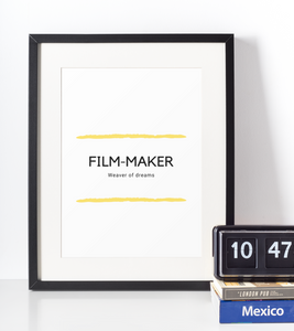 FILM-MAKER Poster - Frame not Included