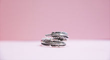 Load image into Gallery viewer, Bohemian Style 925 Sterling Silver Feather Ring